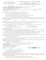 ĐỀ KT HK I - VẬT LÝ 12 TRƯỜNG LÊ QUÝ ĐÔN HÀ ĐÔNG