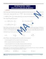 Đề thi, đáp án, hướng dẫn giải đề thi thử đại học môn vật lý