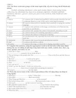Bài tập Tiếng Anh 8