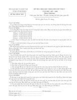 Đề thi HSG sinh 9 - NB - 08
