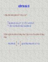 Bài 1: Phân thức đại số