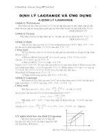 Định lý Lagrange và ứng dụng (Tĩnh Gia 1)
