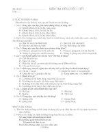 Đề kiểm tra Ngữ văn 6 (15 phút, 1 tiết, học kì)