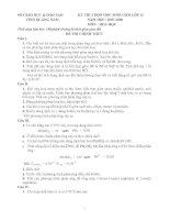 Đề thi HSG Hóa 12NH 07-08 của Q Nam