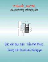 Thí nghiệm: Dòng điện trong chất điện phân