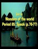 Unit 14: Wonders of the world