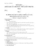 Giáo án lịch sử 7 (từ tiết 1 đến 66)
