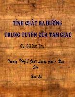 TINH CHAT DUONG TRUNG TUYEN TRONG TAM GIAC