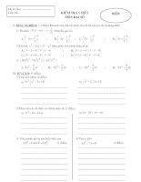 Kiểm tra Đại số 8 chương I