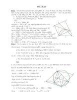 Hình học Ôn thi vào 10 có kèm đáp án.