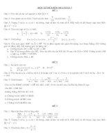 Một số đề kiểm tra toán 7