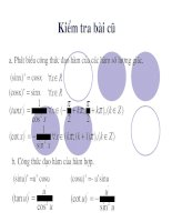 Bài tập: Đạo hàm hàm số lượng giác
