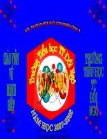 SAO CHÉP VĂN BẢN LỚP 4 THI GV GIỎI 2008