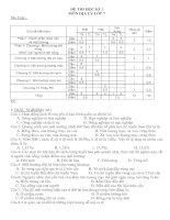 Giáng sinh 08 Đề thi và đáp án học kì 1 môn địa lý lớp 7(đề 7)