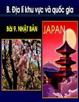 Bài 9:  Nhật Bản (tiết 1)