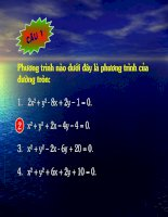 Chương III - Bài 2: Phương trình đường tròn