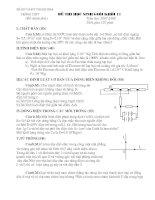 Đề thi HSG vật lý 11