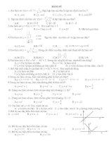 trắc nghiệm hàm số