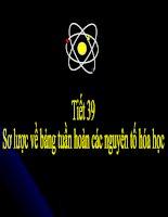 Bảng tuần hoàn các nguyên tố hóa học (tiết 1)