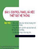 Bài 5:Control Panel và Các thiết lập