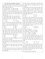 100 câu trắc nghiệm VẬT LÍ 9 chương I
