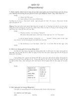Giới từ tiếng Anh - Đơn giản và hiệu quả