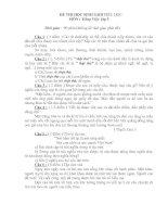 Đề thi HSG CẤP TỈNH Tiếng Việt 5 + Đáp án(Đề 1)
