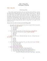 Đề kiểm tra TNKQ môn Tiếng Việt Lớp 5 theo phương pháp Solo