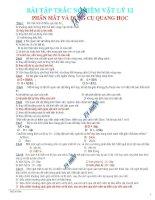 Bài tập về mắt và các dụng cụ quang học