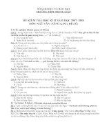 Một số đề kiểm tra Ngữ văn lớp 11 học kỳ II