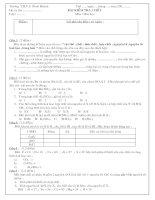 Kiểm tra 45 phút lớp 8 - Bài 1