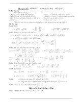 Chuyên đề - Số vô tỉ - Căn bậc hai - Số thực