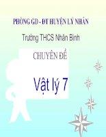 Bai 5 Anh cua mot vat tao boi guong phang