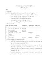 Đề kiểm tra Thể dục HK I - Đề số 1
