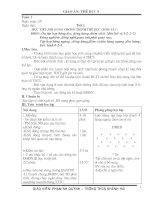 giáo án Thể dục 9 kì 1