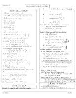 Các dạng toán hình học 12