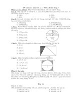 Bài kiẻm tra  toán 5 lần 3