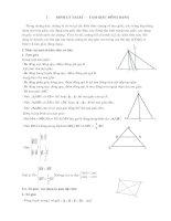 Tam giác đồng dạng - Chuyên đề Toán THI VÀO 10 của SGD Thanh hóa