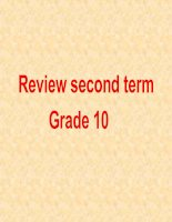 Review second term 10