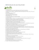 40 lời khuyên cho cuộc sống tốt lành