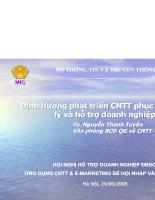Định hướng phát triển CNTT phục vụ quản lý và hỗ trợ doanh nghiệp