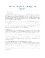 Báo cáo chuyến đi thực địa Thái Nguyên