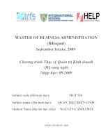 Master of business administration: Chương trình thạc sỹ quản trị kinh doanh