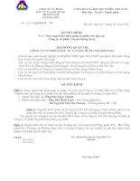 Quyết định thay người đại diện quản lý phần vốn góp tại công ty cổ phần truyền thông Briq