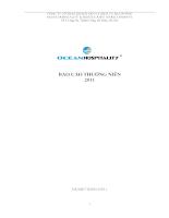 Báo cáo thường niên 2011 tại công ty cổ phần khách sạn và dịch vụ đại dương