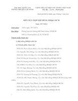 Biên bản họp hội đồng ĐHQG HCM