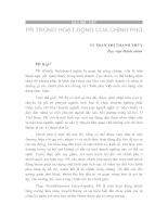 PR TRONG HOẠT ĐỘNG CỦA CHÍNH PHỦ