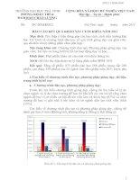 Báo cáo kết quả khảo sát cuối khóa năm 2011.