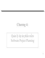 Quản lý dự án phần mềm Software Project Planning