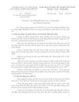 Báo cáo công tác tháng 012012